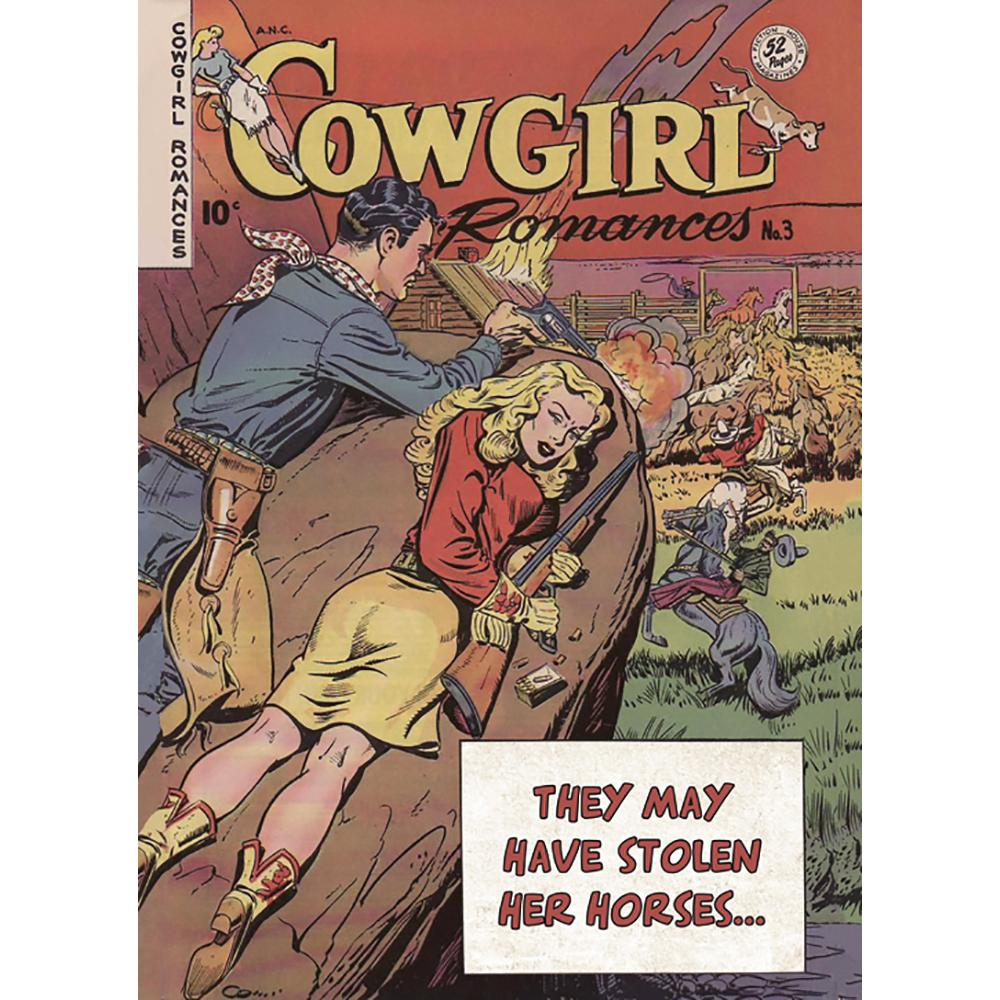 Cowgirl Romances Greeting Card