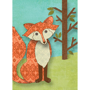 Whimsical Fox All Occasion Greeting Card 6 pack