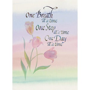 One Breath, One Day Greeting Card