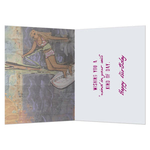 Let The Wind Greeting Card