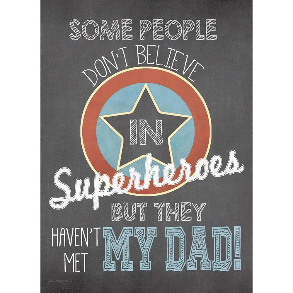 Superhero Dad Father's Day Greeting Card 4 pack