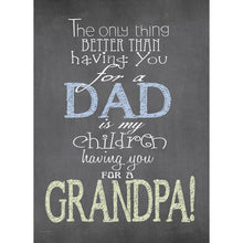 Load image into Gallery viewer, Nothing Better Grandpa Father's Day Greeting Card 4 pack