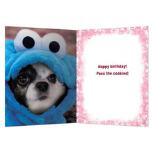 Load image into Gallery viewer, Pass The Cookies Birthday Greeting Card 6 pack