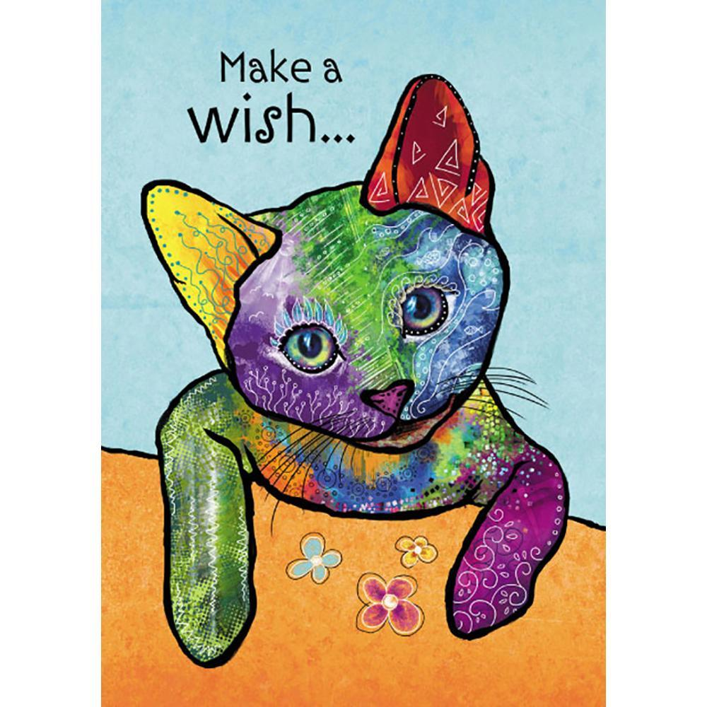 Cat Wishes Greeting Card