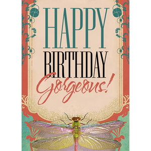 Birthday Gorgeous Birthday Greeting Card 6 pack