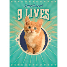 Load image into Gallery viewer, Nine Lives Greeting Card