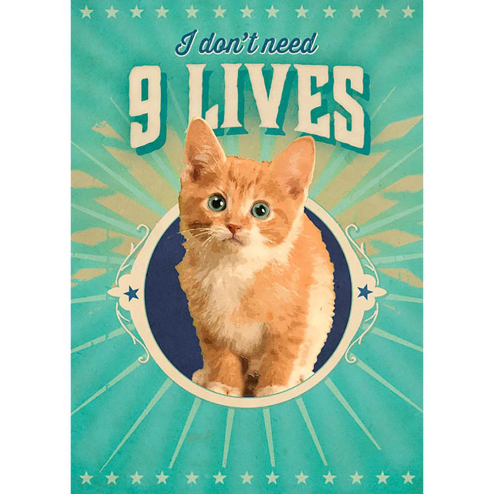 Nine Lives Greeting Card