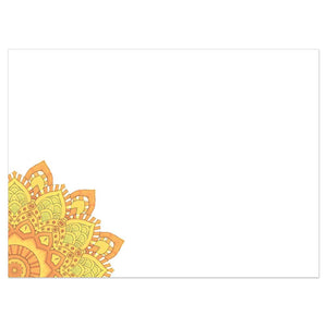 Tangerine Thanks Thank You Greeting Card 6 pack