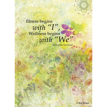 Load image into Gallery viewer, Wellness Begins With We Get Well Greeting Card 6 pack