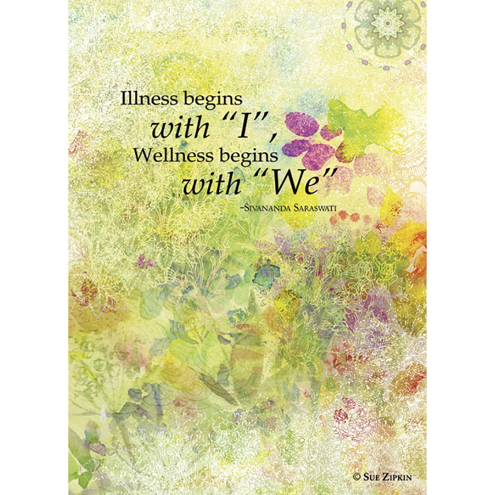 Wellness Begins With We Get Well Greeting Card 6 pack