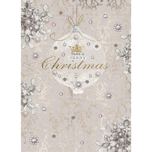 Christmas Elegance Christmas Greeting Card 4 pack