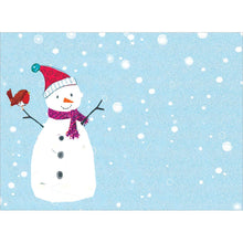 Load image into Gallery viewer, Sweet Snowman Christmas Greeting Card 4 pack