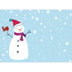 Sweet Snowman Christmas Greeting Card 4 pack