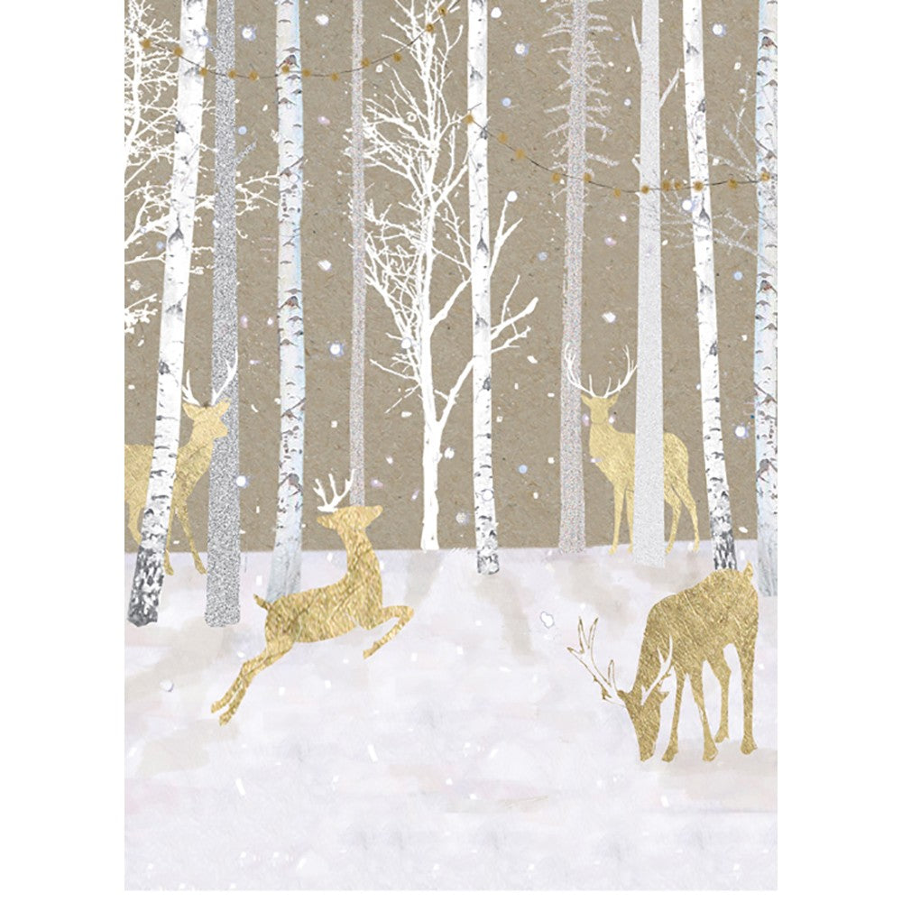 Silent Wood Holiday Greeting Card 4 pack