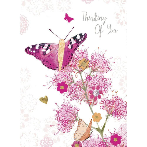Send This Thinking Of You Butterfly Support Card