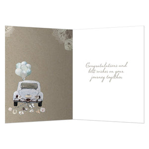 Just Married Wedding Greeting Card 6 pack