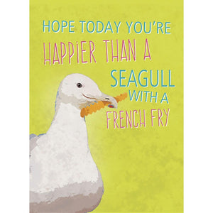 Beachin Seagull Birthday Greeting Card 6 pack