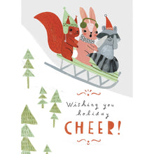 Load image into Gallery viewer, Sleigh Buddies Christmas Greeting Card 4 pack