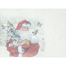 Load image into Gallery viewer, Santa's Flocked Tree Christmas Greeting Card 4 pack