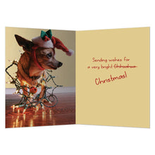 Load image into Gallery viewer, Santa's Little Helper Christmas Greeting Card 4 pack