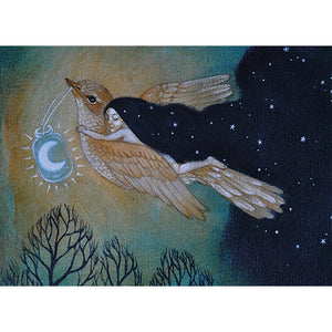Soaring By Starlight Holiday Greeting Card 4 pack