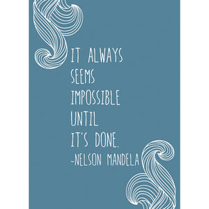 Seems Impossible Graduation Greeting Card 4 pack