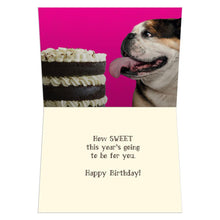 Load image into Gallery viewer, Bulldog Birthday Birthday Greeting Card 6 pack