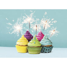 Load image into Gallery viewer, Extra Sparkly Birthday Greeting Card 6 pack