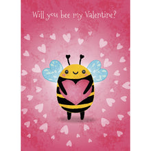 Load image into Gallery viewer, Cute Bee Valentine Valentine's Day Greeting Card 4 pack
