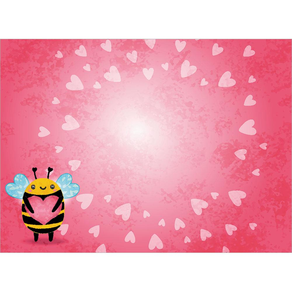 Cute Bee Valentine Valentine's Day Greeting Card
