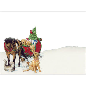 Warmth And Joy Christmas Greeting Card 4 pack