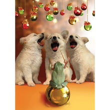 Load image into Gallery viewer, Herald Puppies Christmas Greeting Card 4 pack