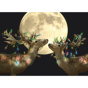 Holiday Lights Christmas Greeting Card 4 pack