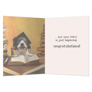 Your Story Graduation Greeting Card 4 pack