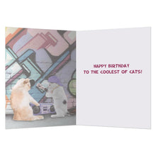 Load image into Gallery viewer, Coolest Cat Birthday Greeting Card 6 pack