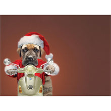 Load image into Gallery viewer, Santa Clause Is Coming Christmas Greeting Card 4 pack