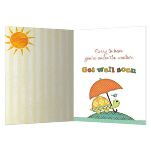 Sending Sunshine Get Well Greeting Card 6 pack