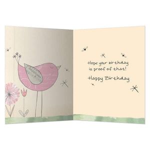 Never Too Happy Birthday Greeting Card 6 pack