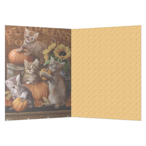 Autumn Kisses Fall & Thanksgiving Greeting Card 4 pack