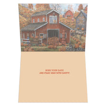 Load image into Gallery viewer, Piled High Pumpkin Fall & Thanksgiving Greeting Card 4 pack