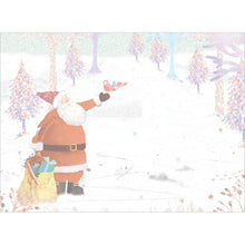 Load image into Gallery viewer, Storybook Santa Christmas Greeting Card 4 pack