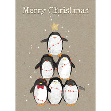 Load image into Gallery viewer, Penguin Pile Christmas Greeting Card 4 pack