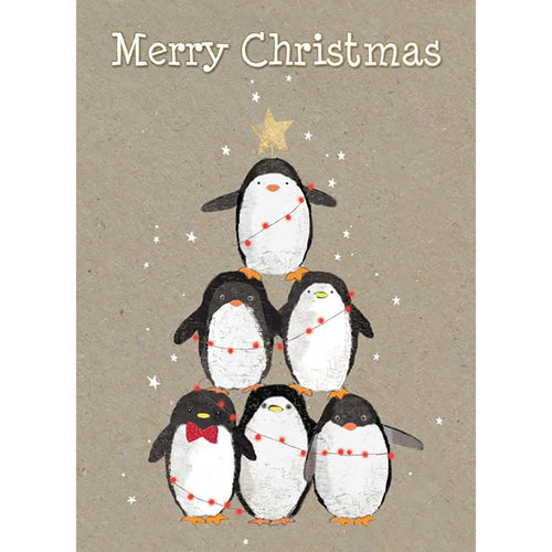 Send This Penguin Pile Christmas Card