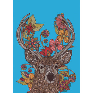 Vibrant Reindeer Holiday Greeting Card 4 pack
