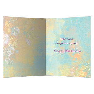 Golden Age Birthday Greeting Card 6 pack