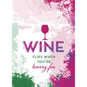 Wine Flies Birthday Greeting Card 6 pack