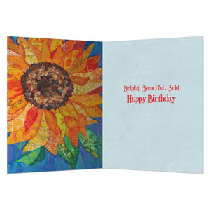 Birthday Sunflower Birthday Greeting Card 6 pack