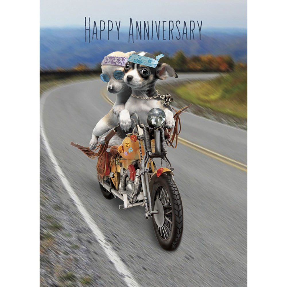 Life Is A Highway Anniversary Greeting Card 6 pack