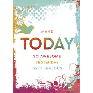 Make Today Awesome Birthday Greeting Card 6 pack