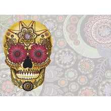 Load image into Gallery viewer, Sugar Skull Paisley Halloween Greeting Card 4 pack